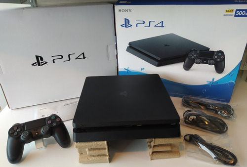 Sony Playstation 4 Slim 500gb Standard Cor  Jet Black Zerado