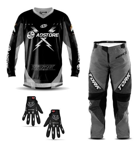Conjunto Trilha Motocross Ad Store Insane X + Luva Brinde