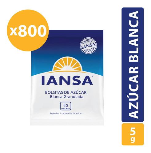 Azúcar Blanca Iansa Granulada En Sachet 800 Unidades