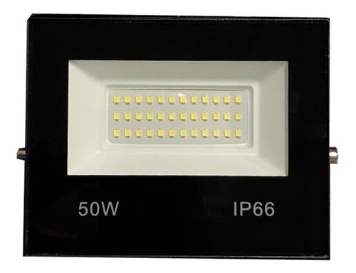 Refletor Led 50w Holofote Bivolt Branco Frio Prova D Agua Luz Smd Lampada Luminaria Led Iluminação Placa Super Led Novo