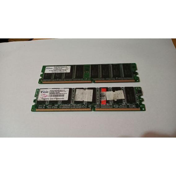 Memoria Ram Elixir Ddr 512mb De 400mhz X 2 Unidades!