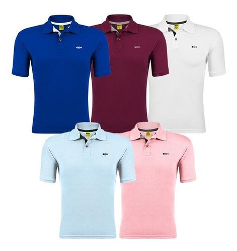 Kit De 5 Camisa Gola Polo Camiseta Atacado Revenda Promoção.