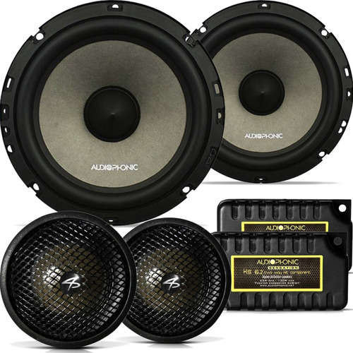Kit 2 Vias Audiophonic Sensation Ks 6.2 130w Rms 6.5 Top