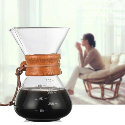 Cafetera Tipo Chemex 400ml Con Filtro Metálico. Envío Gratis