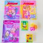 3 Revistas Disney Menina Colorir Brincar Lápis Massinha
