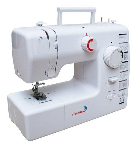 Máquina De Costura Reta Importway Iwmc-509 Portátil Branca 127v/220v
