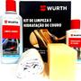 Kit Limpa E Hidrata Banco De Couro Automotivo Wurth