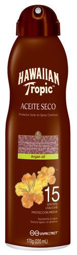 Protector Solar Hawaiian Tropic Tanning Argan Oil Spray Resistente Al Agua Fps15 X 180ml