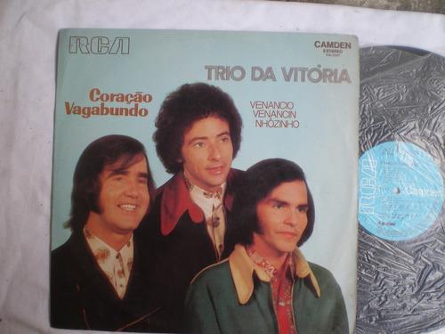 Lp - Trio Da Vitoria / Coração Vagabundo / Rca Camden / 1973 Original