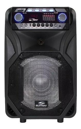 Alto-falante Sumay Thunder Black Portátil Com Bluetooth Preto 110v/220v
