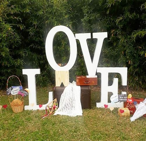 Love Letras Corpóreas De 1m  Ambientacion Decoración Sin Luz