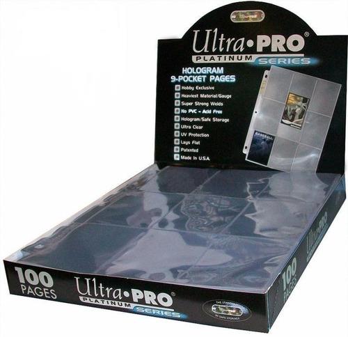 Folio Carpeta Ultra Pro Platinum 9 Bolsillos