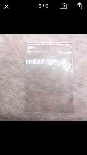 Bolsa Transparente Cierre Auto Adhesivo 10x12 Cm, Pack X 50