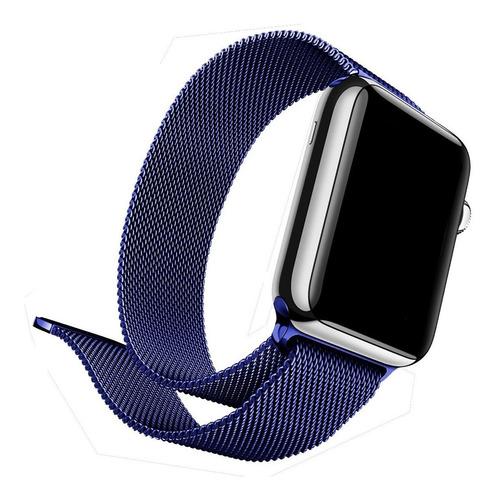 Pulseira De Aço Coloridas Compatível Com Apple Watch E Iwo