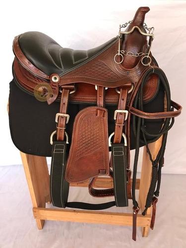 Cela Completa Montaria Americana Para Cavalo Todas As Raças *couro Legítimo De Búfalo*