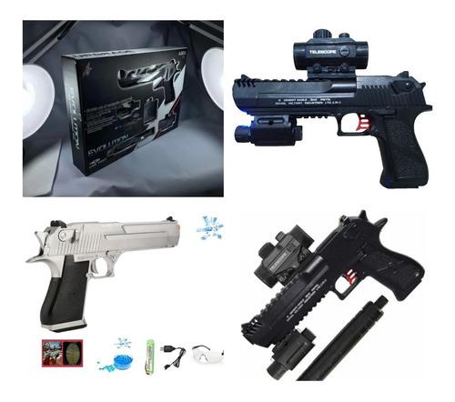 Pistola Automática Balas Hidrogel Batería Recargable Láser