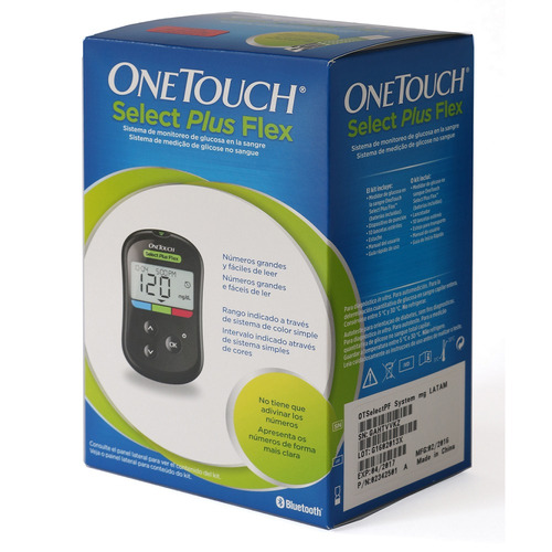 Glucometro 10 Tiras 10 Lancetas One Touch Select Plus Flex