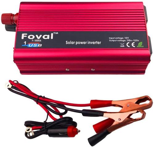 Inversor De Corriente Foval 1000 Watt Dc 12 V A 110 Wattios