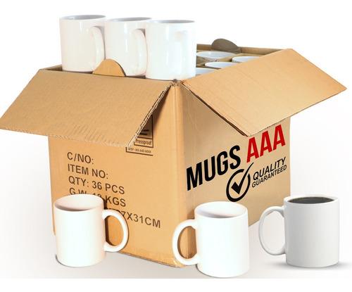 Mugs 11 Oz Blanco Aaa Caja X 36 Envio Gratis