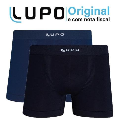 Kit 2 Cuecas Boxer Lupo Microfibra Box Sem Costura Original