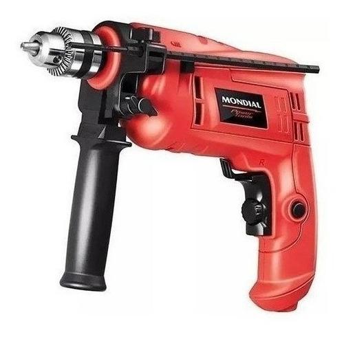 Furadeira Elétrica De Impacto Mondial Hobby Nffi-07m 2800rpm 600w Vermelho 220v