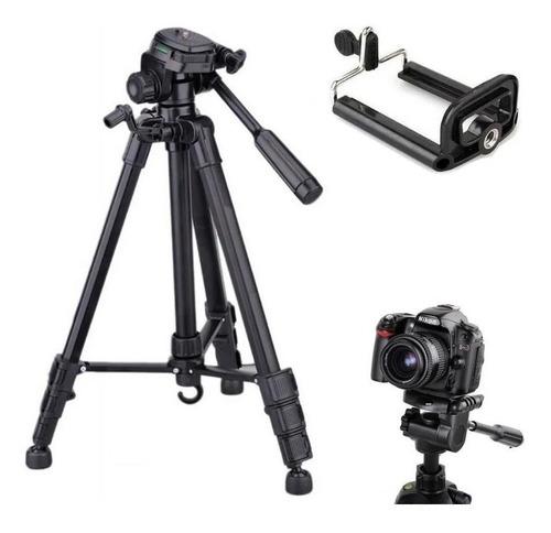 Tripé Câmera Profissional Canon 1, 80 Mts Suporte Celular