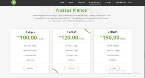 Template Site Para Empresa De Serviços Internet