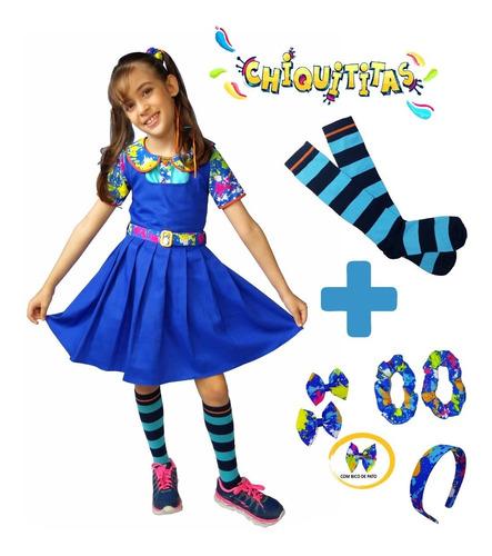 Fantasia Infantil Chiquititas +marias Chiquinhas+ Tiara+laço