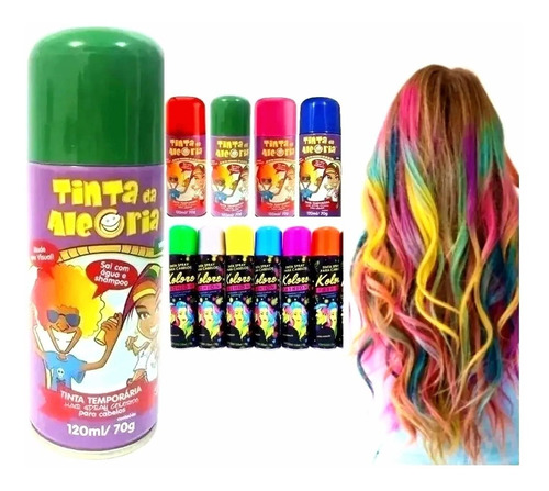 Spray Para Colorir Cabelo Temporário - Cores -super Desconto