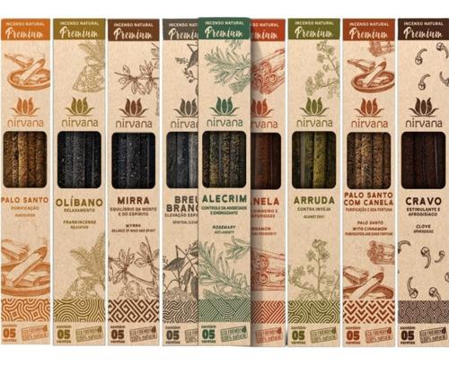 Incenso Natural Premium Nirvana C/10cx De 5v Escolha Aromas