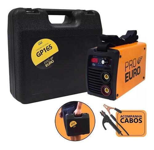 Solda Inversora 165a Bivolt 110v 220v + Maleta Eletrodo Tig