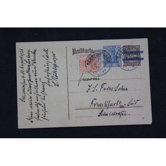 Deutsches Reich Postal Schweinfurt 16aug1921 Michel# 141y144
