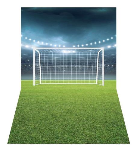 Fundo Fotográfico Campo De Futebol Tecido 2, 20x1, 60 Pn 0207