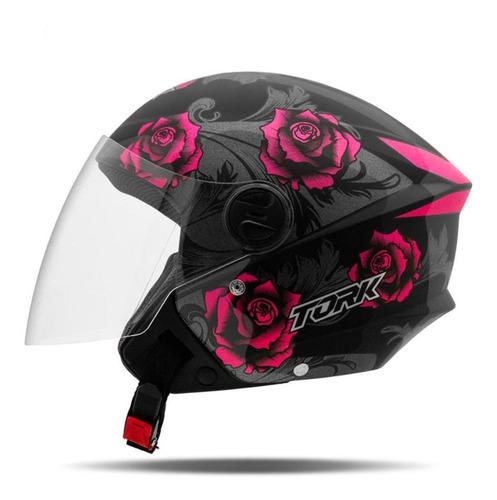Capacete Pro Tork Aberto Moto New Liberty 3 Flowers Feminino