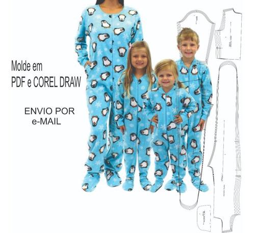 Kit Molde Pijama Macacão Feminino E Infantil- Envio E-mail