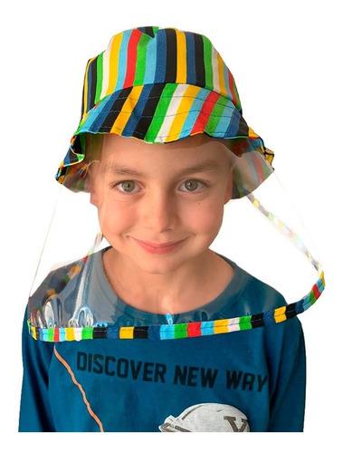 Chapéu Com Proteção Infantil Tricoline Lavável Barato!