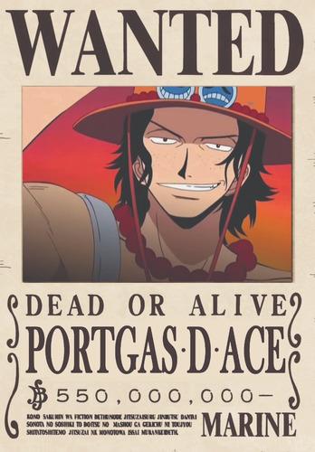 Pôster Procurado One Piece A4 Novo Mundo Alta Qualidade