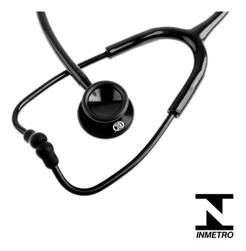 Estetoscópio Duplo Black Profissional Com 5 Garantia Bic
