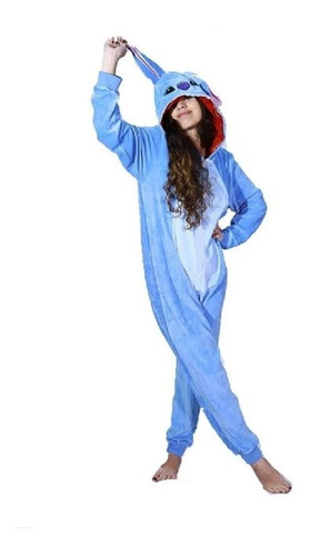 Lilo Stitch Disney Pijama Kigurumi Ziper Frente E Atras