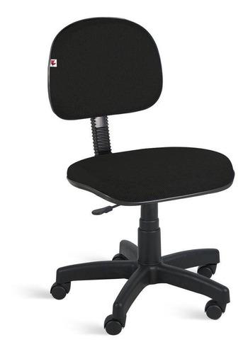 Cadeira Secretária Giratória Tecido Preto