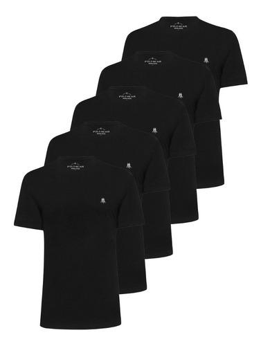 Kit 5 Camisetas Masculinas Algodão Básica Polo Wear