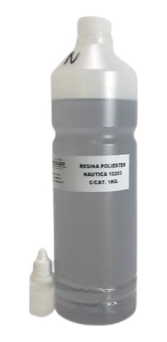 Resina Poliéster Náutica Cristal 1kg Con Catalizador