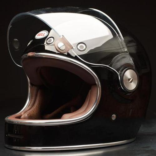 Capacete Retro Bell Bullitt Solid Black Motosprint