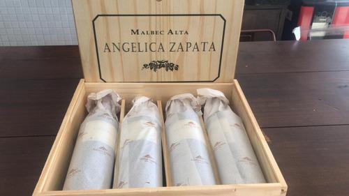 Vinho Angelica Zapata Malbec Alta - Caixa De Madeira 04un