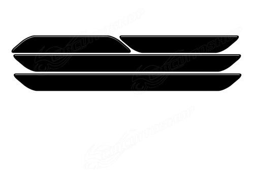 Protetor Soleira Relevo 3d Black 4 Porta Carro Hyundai Hb20