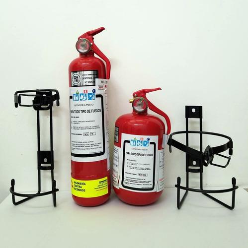 Extintor 1 Kg. Mod. Largo P/autos, Unit  Nuevo Con Soporte