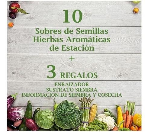 Kit De 200 Semillas Organicas De Hierbas Aromaticas