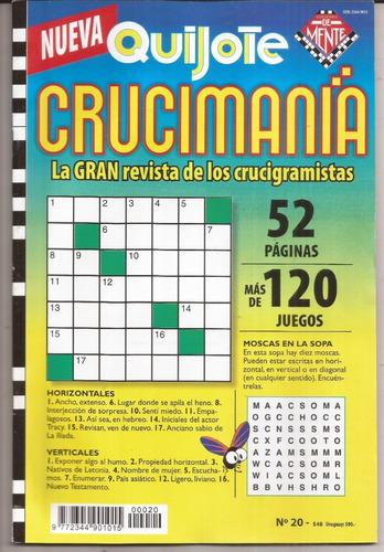 5 Revistas De Crucigramas  Crucimania Quijote Nuevas