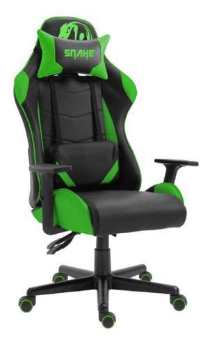 Cadeira Gamer Krait Snake Gaming Reclinavel B88 - Verde