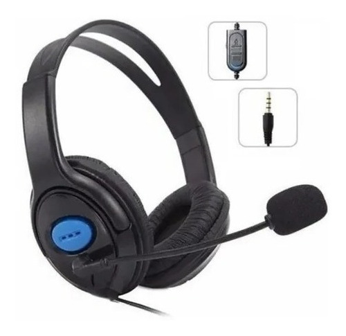 Headset Gamer Ps4 Xbox One Fone Ouvido C/ Microfone C/ Nf
